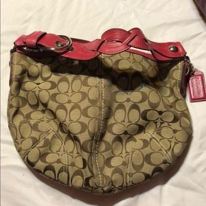 Coach Signature Hobo with Braided Leather Handle
